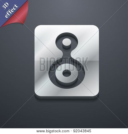 Video Tape Icon Symbol. 3D Style. Trendy, Modern Design With Space For Your Text Vector