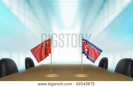 China and North Korea relations and trade deal talks