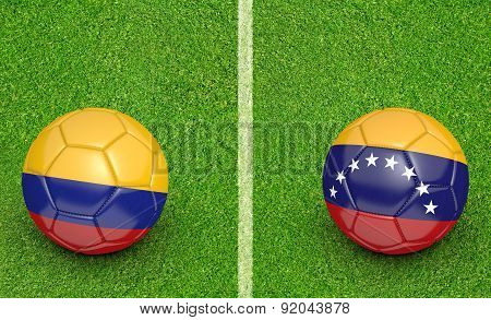 2015 Copa America football tournament, teams Colombia vs Venezuela