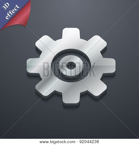 Cog Settings, Cogwheel Gear Mechanism Icon Symbol. 3D Style. Trendy, Modern Design With Space For Yo