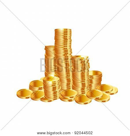 Money coins. Vector