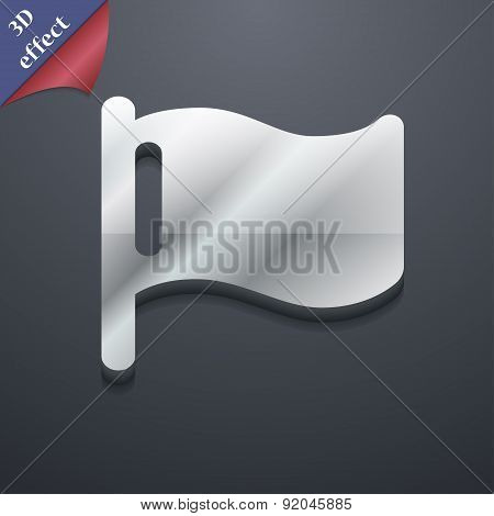 Flag Icon Symbol. 3D Style. Trendy, Modern Design With Space For Your Text Vector