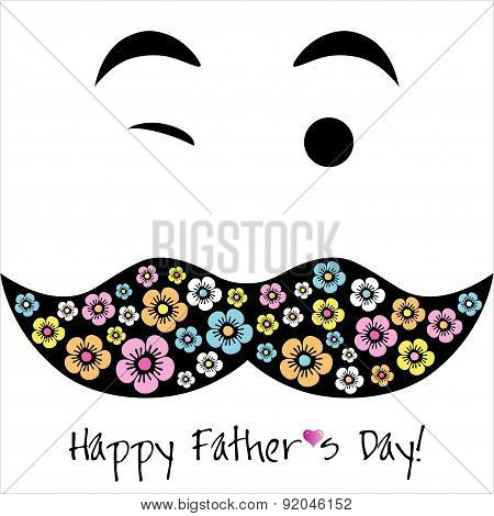 Happy Father's Day  Background Or Card.