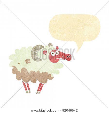cartoon muddy sheep