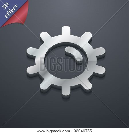 Sun Icon Symbol. 3D Style. Trendy, Modern Design With Space For Your Text Vector