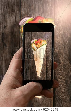 Photographing Tortilla Wrap