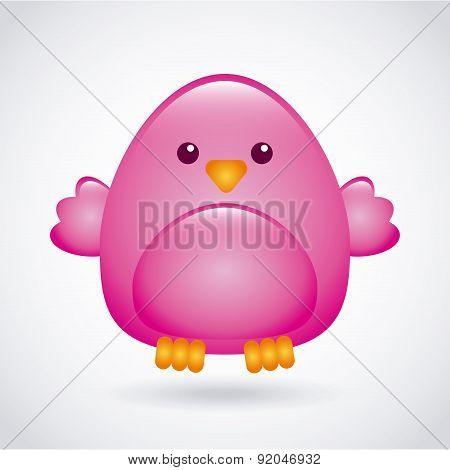 Birdie design over gray background vector illustration