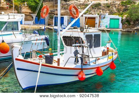 traditional Greece series- fishing boat on Milos island