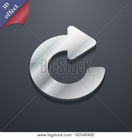 Upgrade, Arrow Icon Symbol. 3D Style. Trendy, Modern Design With Space For Your Text Vector