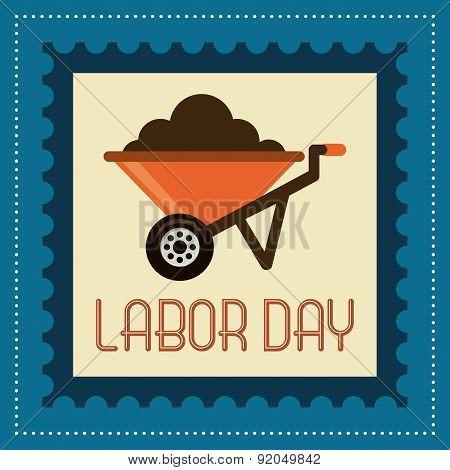 Labor day design over blue background vector illustration