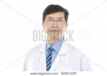 Dentist doctor. Health care. Isolated over white background.