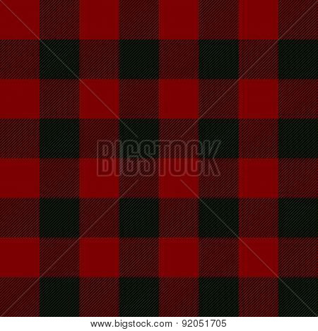 Seamless Illustration - Red Tartan