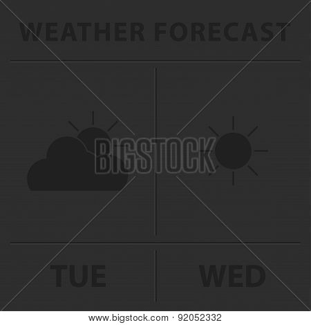 Weather Forecast - Gray Icons