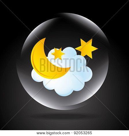 Weather design over black background vector illustration