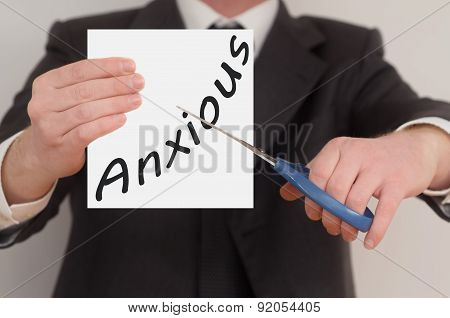Anxious, Determined Man Healing Bad Emotions