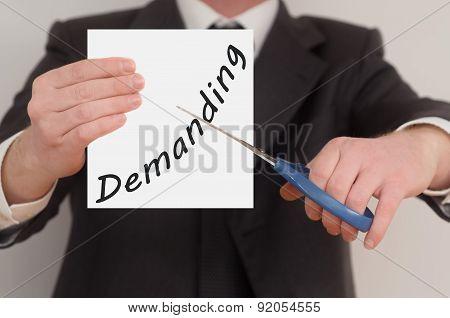 Demanding, Determined Man Healing Bad Emotions