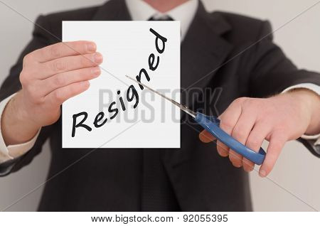Resigned, Determined Man Healing Bad Emotions