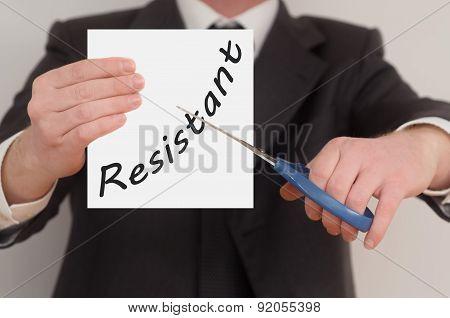 Resistant, Determined Man Healing Bad Emotions