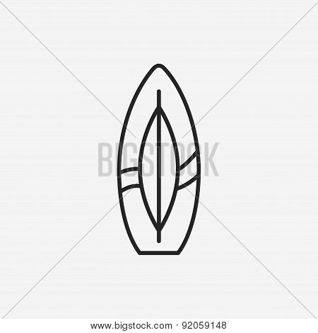Surfboard Line Icon
