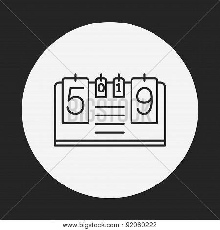 Scoreboard Line Icon