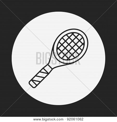 Badminton Line Icon