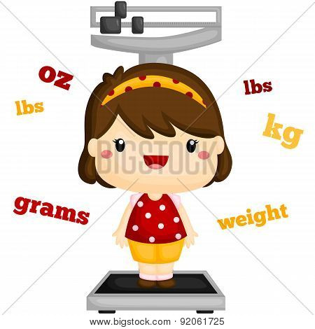 girl weighting