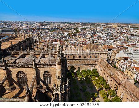 Cathedral La Giralda at Sevilla Spain - architecture background