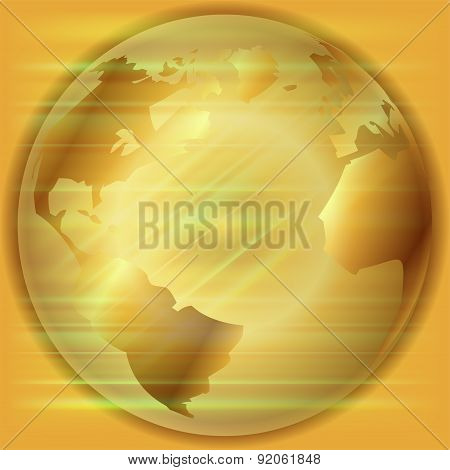 Golden Globe background  template