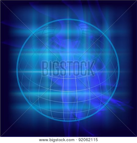 Abstract Globe background design illustration texture template