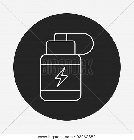 Energy Drink Line Icon