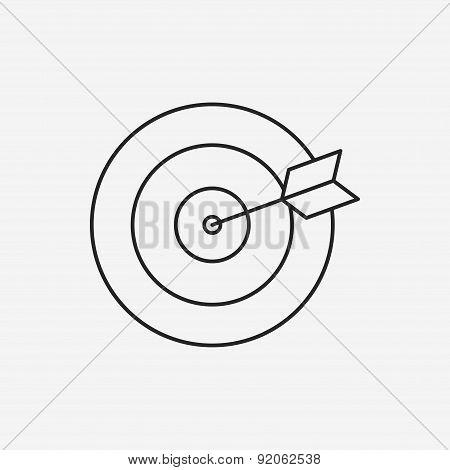 Archery Line Icon