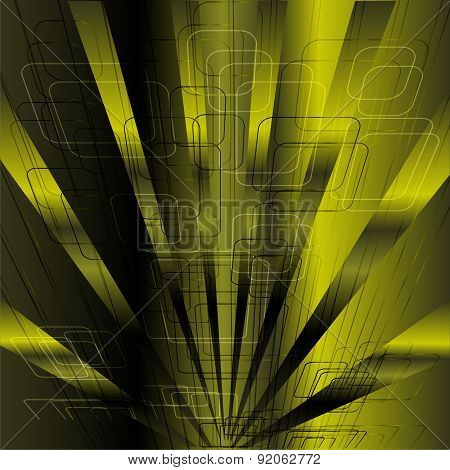 Abstract business science or technology green rays background template