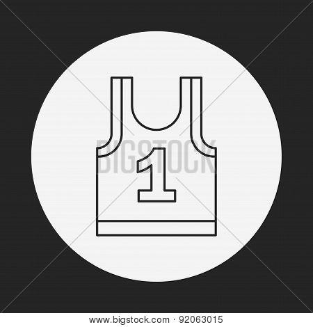Sports Vest Line Icon