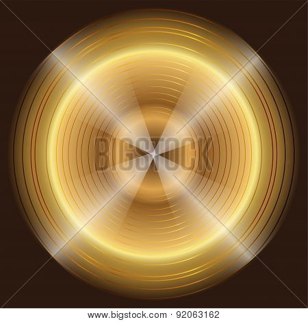 Abstract circular gold black Background template