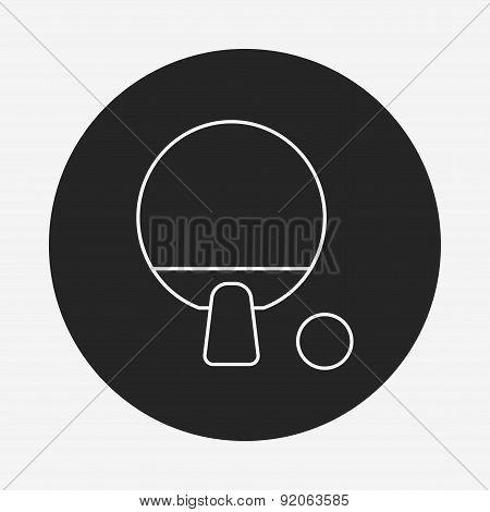 Table Tennis Line Icon
