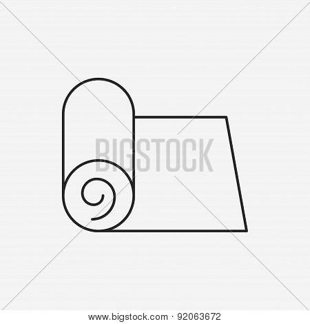 Yoga Mat Line Icon
