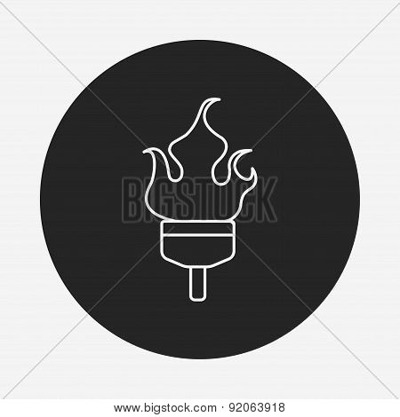 Torch Line Icon