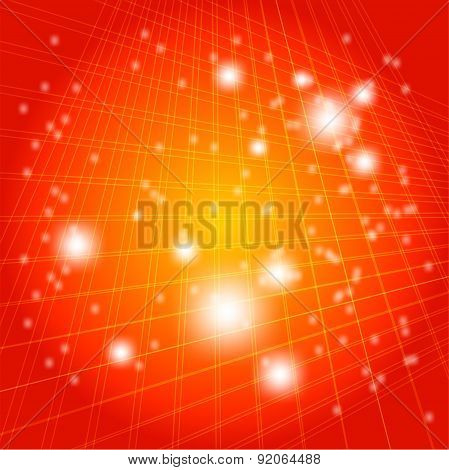 Grid dotted light Illustration orange Background