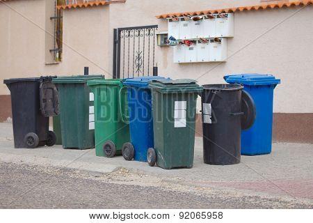 Household  waste waiting to be taken away