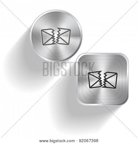 defective mail. Vector set steel buttons