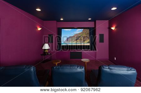 Home Theater Inside Modern Home