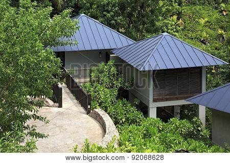 Villas on the hotel Raffles Praslin Seychelles.