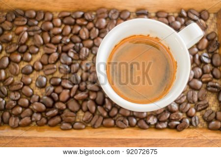 Perfect Shot Of Hot Espresso