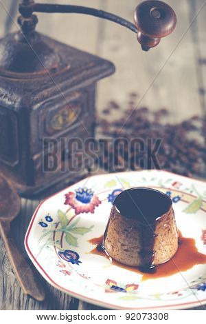 Egg Custard With Coffee
