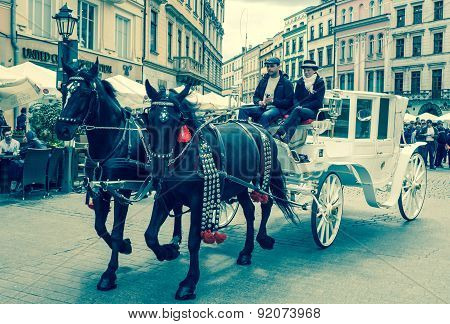 Horse Carriage At Krakow, Slovakia