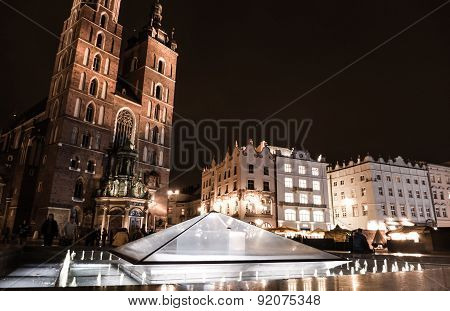 Main Square At Krakow, Poland