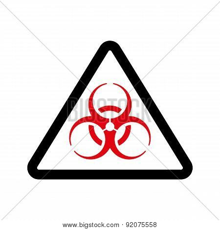 The Biohazard Icon. Biohazard Symbol. Flat