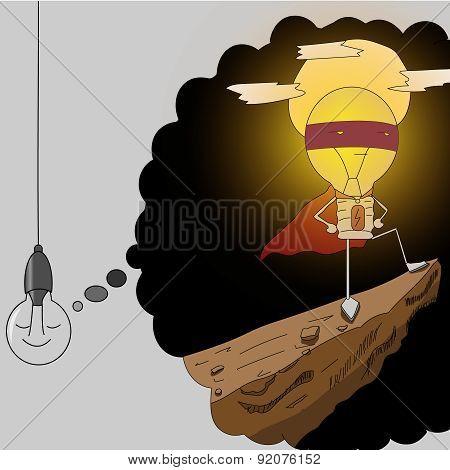 lamp superhero