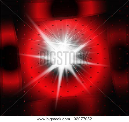 Explosion on a dark red background abstract