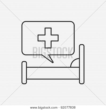 Hospital Beds Line Icon